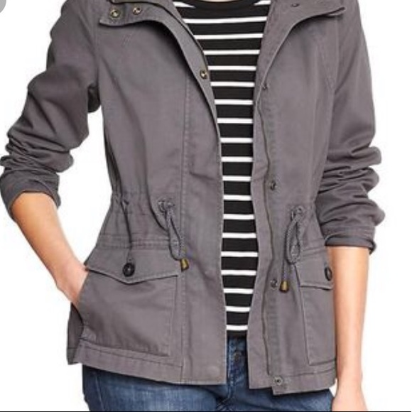 essenza Jackets & Blazers - Gray, Hooded Utility Jacket